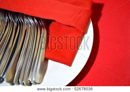 Eating Utensilsstack Of Spoons