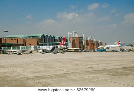 Planes at Venice Airport