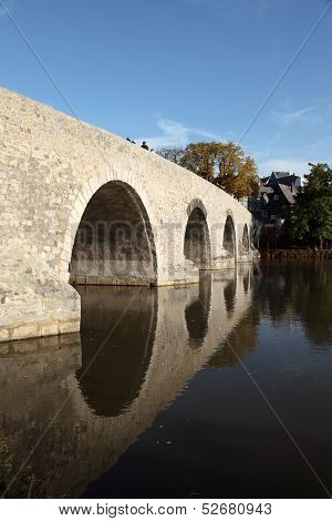 Old Stone Bridge In Wetzlar, Germany