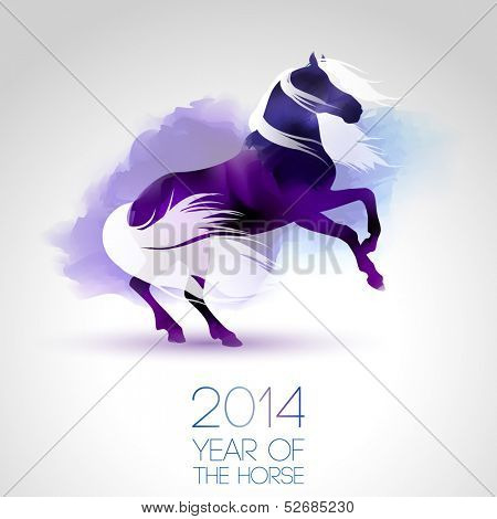 2014, year of the horse.eps10 vector
