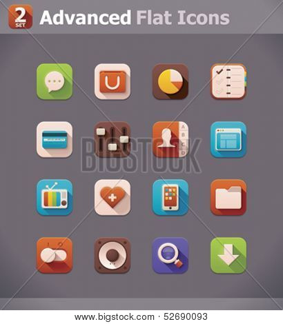 Vector flat UI icons