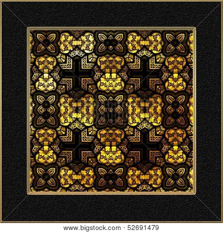 Decorative Stained Glass Window Panel
