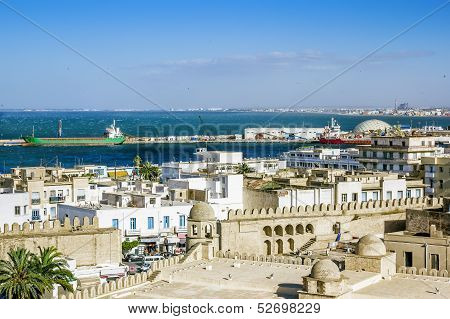 View From The Heights Over The Port And The Medina Of Sousse Tunisia