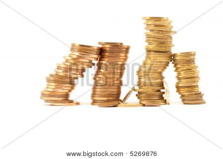 Stack Of Coins High And Low