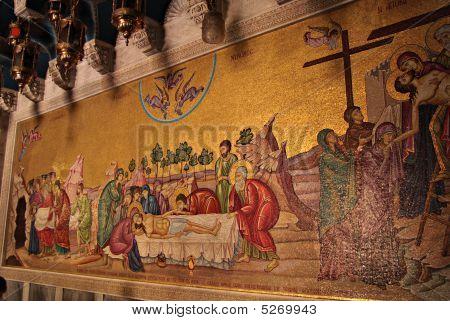 Mosaic Fragment of Holy Sepulchre Church Jerusalem poster
