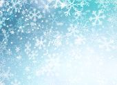 Winter Holiday Snow Background. Christmas Abstract Backdrop with Snowflakes poster