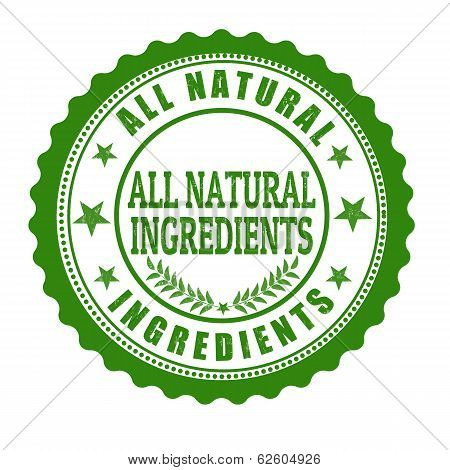 All Natural Ingredents Stamp