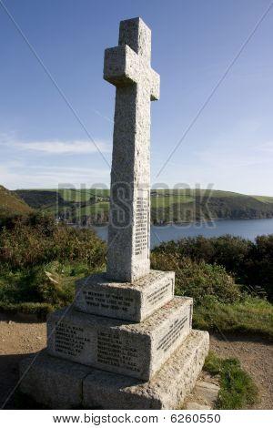 War Memorial Near Talland Bay, Cornwall