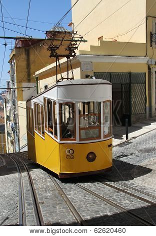 Lisbon, Portugal - May 30th, 2013: Traditional Tram in Lisbon