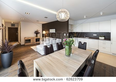 Luxurious Kitchen With Living Area