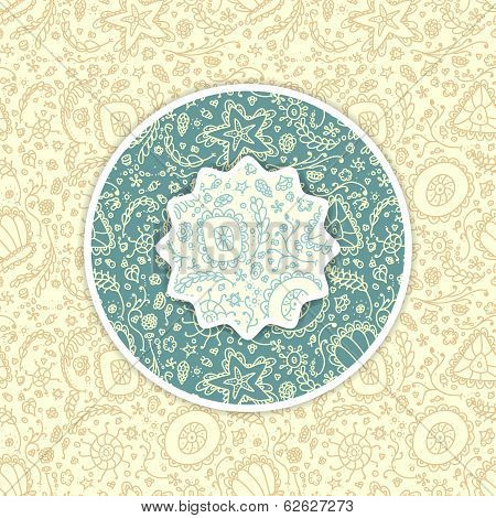 Background with abstract Seamless protozoa patterns