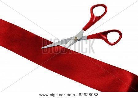 Cut Red Ribbon