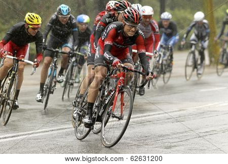 BARCELONA - MARCH, 30: Martin Kohler of BMC Racing Team rides during the Tour of Catalonia cycling race through the streets of Monjuich mountain in Barcelona on March 30, 2014