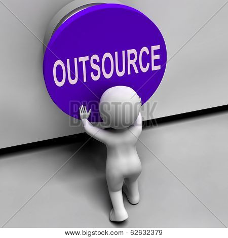 Outsource Button Means Freelancer Or Independent Worker
