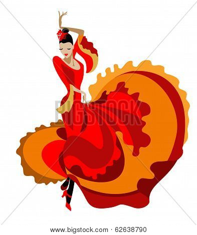 Haired Flamenco Dancer