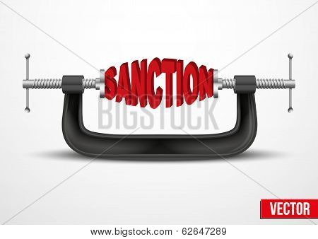 Symbol of Sanctions vector