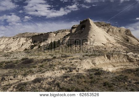 Steeple Butte on the Pawnee National Grassland in Northeastern Colorado. poster