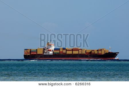Huge container cargo