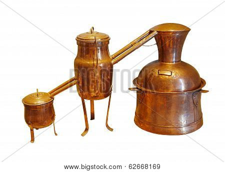 Alembic Copper - Distillation Apparatus Employed For The Distillation Of Alcohol, Essential Oils And