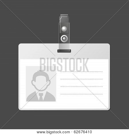 Blank Identification Card Badge ID Template. Vector