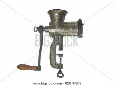 Old  Metal Meat Mincer