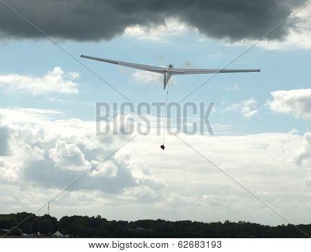Glider taking off