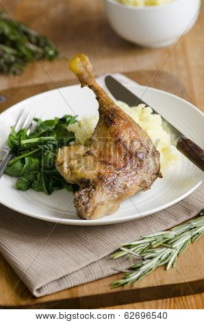 Duck With Mashed Potatoes