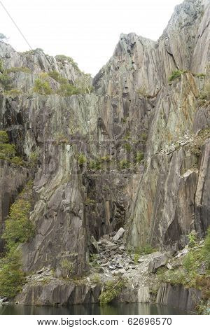 Disused Vivian Slate Quarry now used for scuba diving. Llanberis Gwynnedd Wales United Kingdom. poster