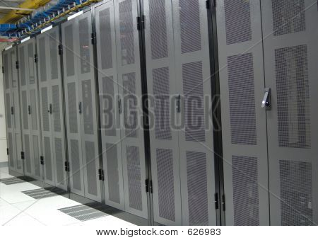 Datacenter - Clean Row Of Racks