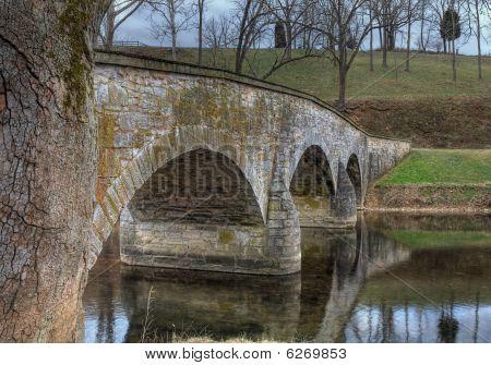 Antietam Creek And Burnside's Bridge In Sharpsburg, Maryland