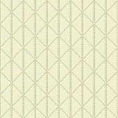 Beige quilted seamless pattern on beige background poster