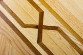 Hardwood stylish parquet floor with detailed pattern poster