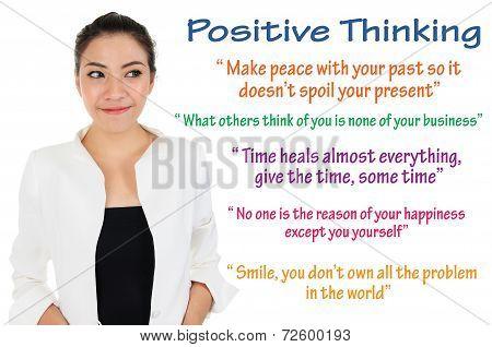 Positive thinking and self improvement logic