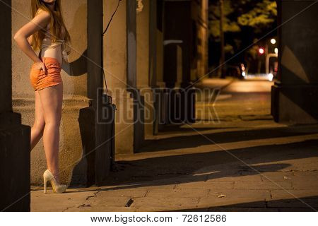Prostitute Working On The Street