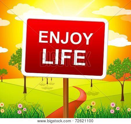 Enjoy Life Shows Live Joyful And Happiness