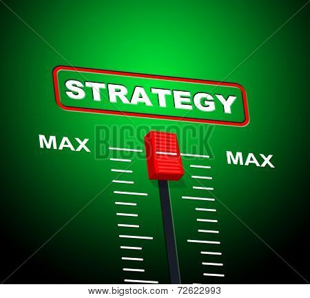 Strategy Max Indicating Strategic Extremity And Peak poster