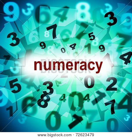 Numeracy Education Means One Two Three And Educated