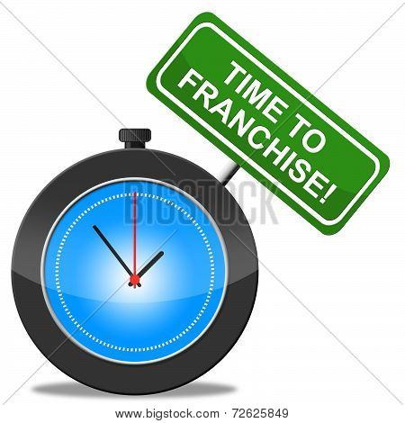 Time To Franchise Represents Commercial Concession And Biz