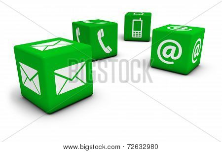 Web Contact Us Icons Cube