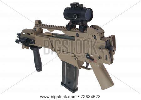 Assault Rifle Isolated On White Background