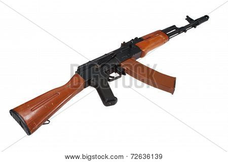 assault rifle AK isolated on a white background poster