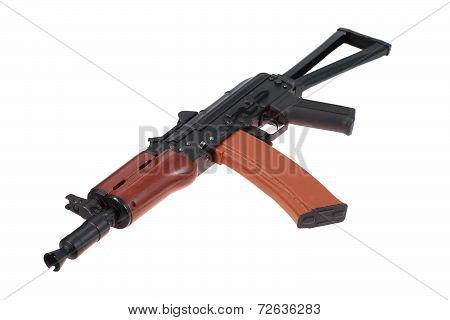 kalashnikov rifle isolated on a white background poster