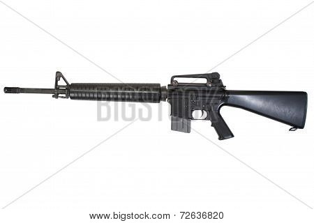 M16 Rifle Isolated On A White Background