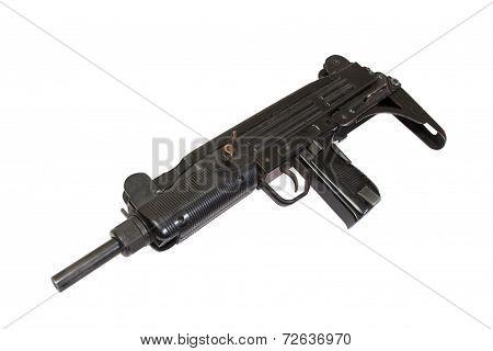 Submachine Gun Isolated On White