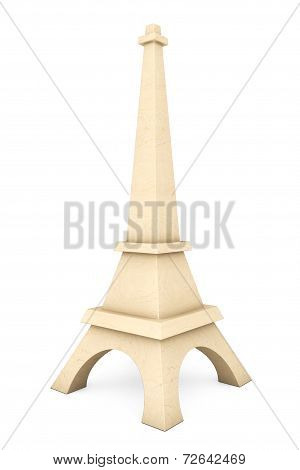 3D Wooden Eiffel Tower Statue