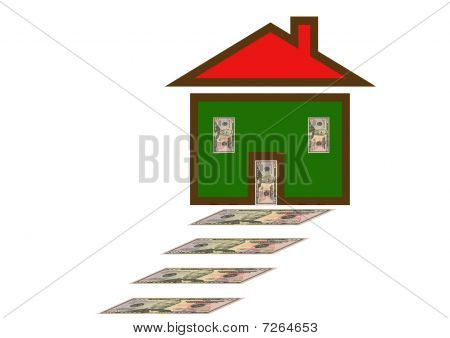 Dollar Steps Leading To House