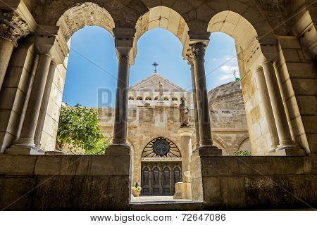 View Of The Church Of The Nativity Bethlehem
