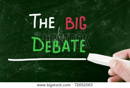 The Big Debate Concept