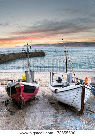 Fishing Boats At Sennen Cove