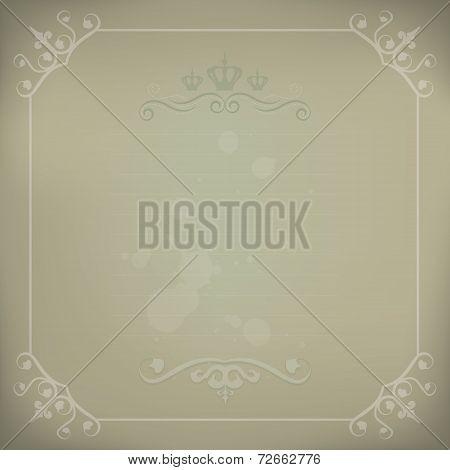 Elegant Victorian Style Vintage Framed Background